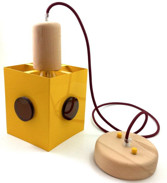 Handmade Hanging Cube Lamp / Hanging Lights / Pendant by Lambater