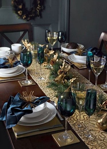 Table decorations for Christmas