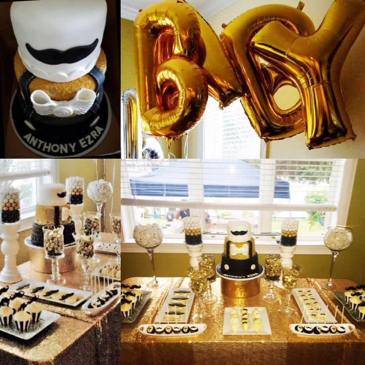 My Little Gentlemen's Baby Shower...black White And Gold