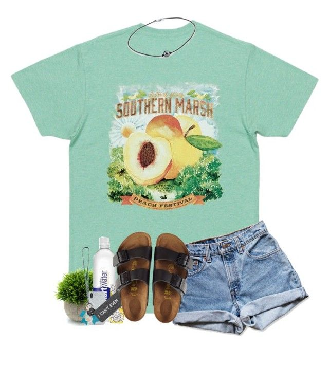 """""""March Contest"""" by kennabug10 ❤ liked on Polyvore featuring Levi's, Valentino, Rebecca Minkoff, Various Projects and Birkenstock"""