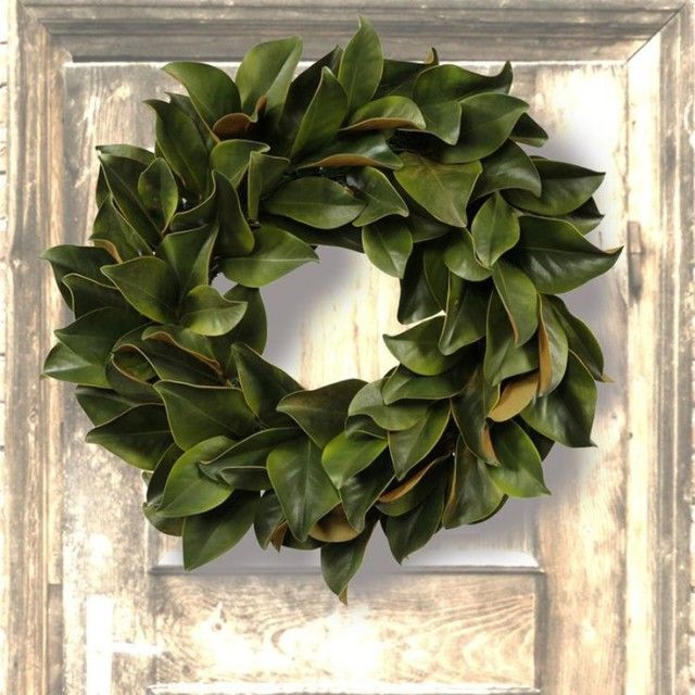 Magnolia Leaf wreath: