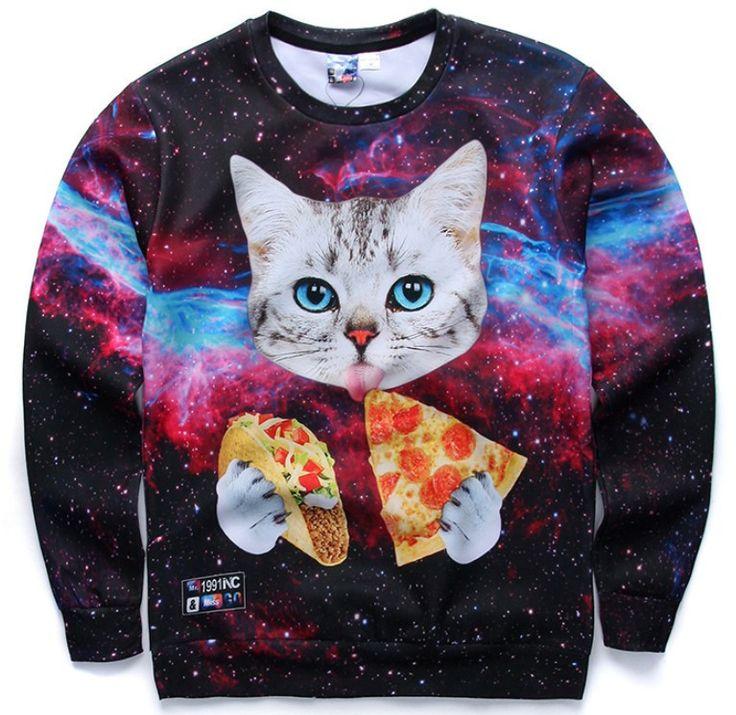 Taco Pizza Cat Sweatshirt