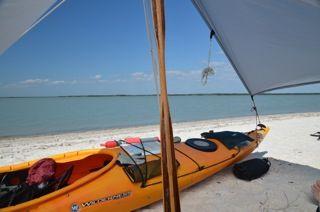 Kayak camping on the beach...Luxury