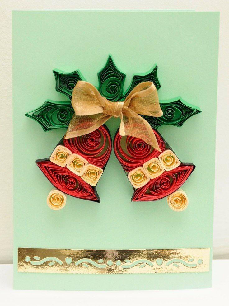 Новогодние открытки в квиллинге, вдовы