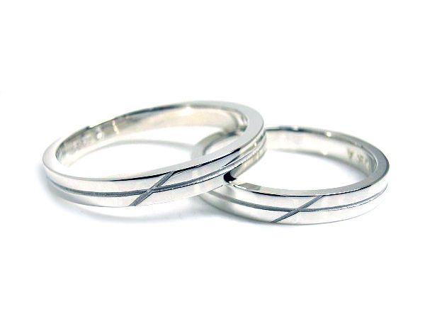 AMBRACE PT900 platinum ring stylish flat cross line 2.8mm プラチナ ペアリング スタイリッシュ フラット クロス ライン