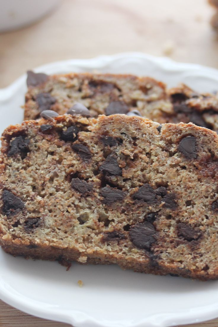 Yummy Banana Chocolate Chip Quinoa Bread is a light fluffy bread loaded with chocolate chips and an easy way to swap grains.