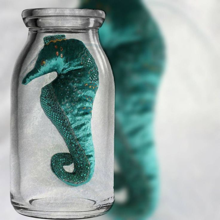 """""""Seahorse in a bottle,  Bottle not included  #mkcushycreations #mk #cushy #creations #mkcushy #mkcushycreation #nautical #beachlifestyle…"""""""