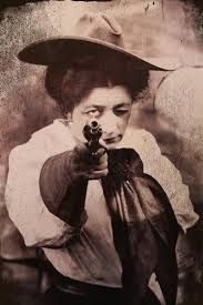 Dangerous Dame  Back in the days of the Old Wild West, women were just as dangerous as men. Young ladies would often learn to shoot at a very young age, and if their father was in the outlaw trade, there was a good chance that these young ladies would follow in their family's footsteps.