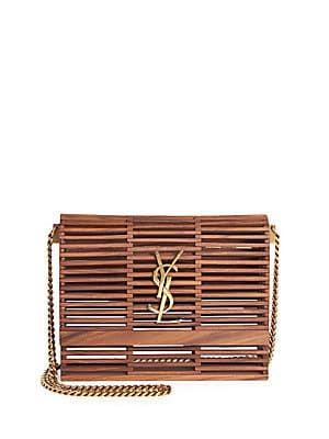 38b6d8cfb42f Saint Laurent Wooden Cage Kate Bag