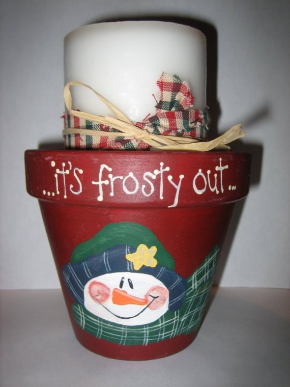 Cute idea and pretty easy if you can find flower pots now. This lady has them for a good price on etsy