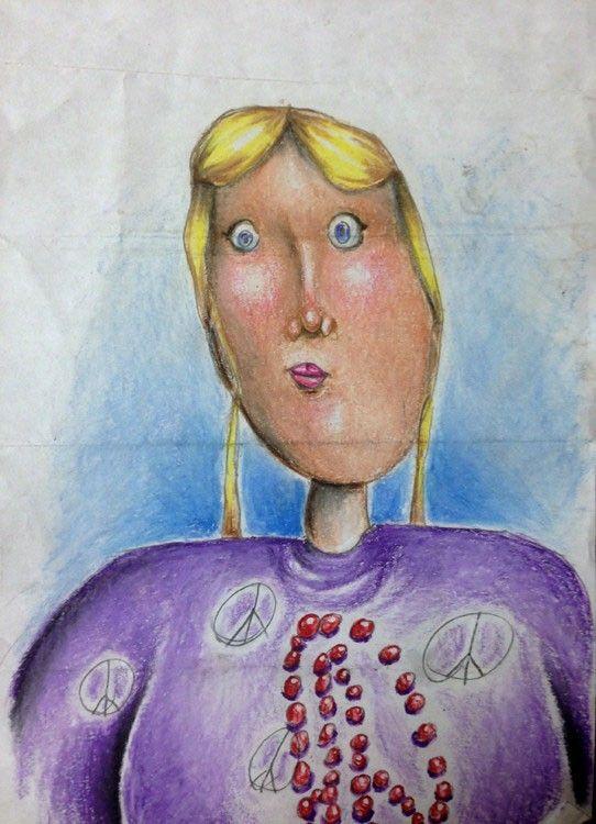 jeune fille dessin