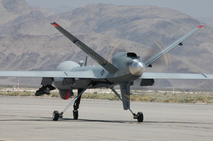 MQ9 Reaper Unmanned Aerial Vehicle Back View 2