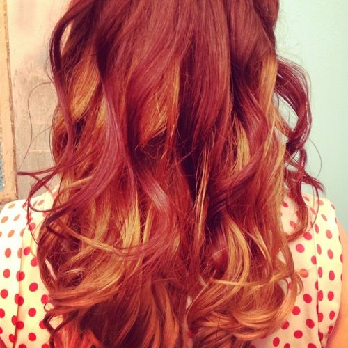Red On Top Blonde Underneath | HAIRSTYLE GALLERY