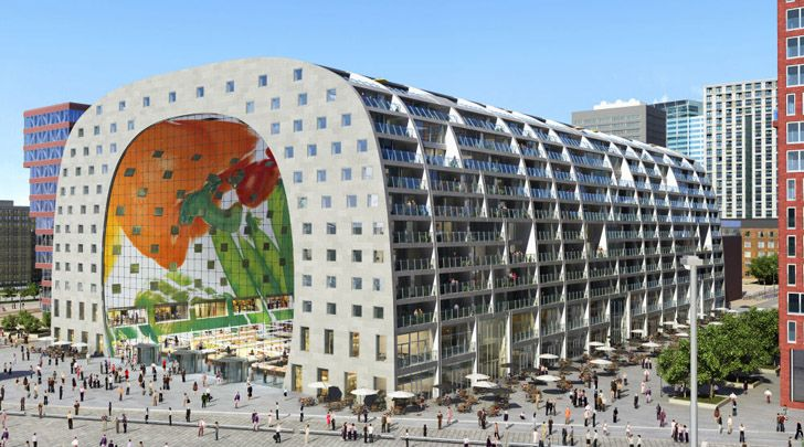 The new Rotterdam Markthal. The most beautiful designed farmer's market in the world