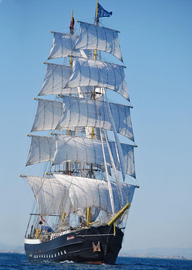 """Tall ships festival 2014 - Falmouth Dutch Tall Ship """"Mercedes""""  Marynistyka.org, Marynistyka.pl, Marynistyka.eu"""