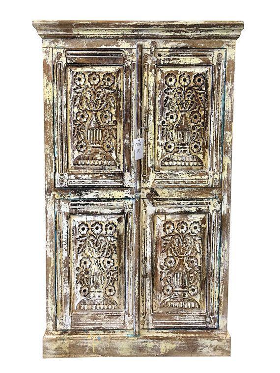 Vintage Carved Armoire Indian Furniture/ Antique by MOGULGALLERY - 64 Best Indian Antique Furniture Images On Pinterest Antique