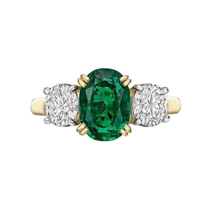 Estate Collection 2.07 Carat Colombian Emerald & Diamond Ring