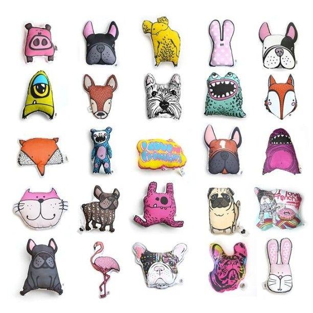 Cushion by Kelly bubble #cushion #kellybubble #Animals #pets #Dogs #flamingo #Fox #pillow #handmade #madeinpoland #rabbit #bulldogs #buldog #frenchie #frenchbuldog #Dogs #monster #buldog #buldogfrancuski #zwierzęta #poduszki #design #wnętrze #dodatkidownętrz #colorfull #kolory