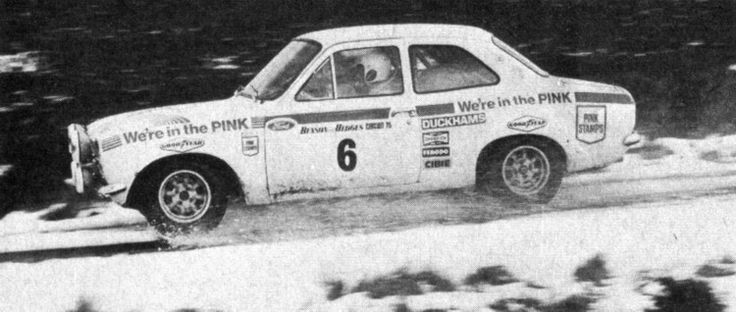 My father Nigel Rockey leading the Lombard RAC Rally of 1972 in his Ford Escort Mexico. He rolled it on day 2 stage 3. Unlucky dad.