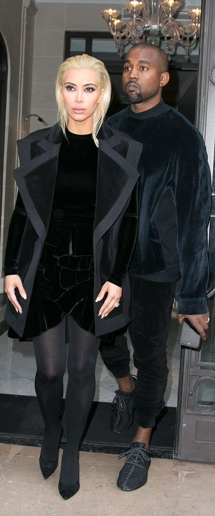 Kim Kardashian and Kanye West stepped out for the Balmain show during PFW.