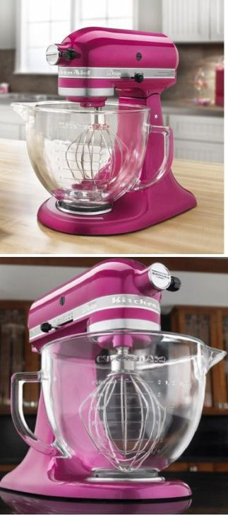 Pink KitchenAid Artisan Series Stand Mixer // I WANT THIS!!! Or one that is Tiffany Blue :)
