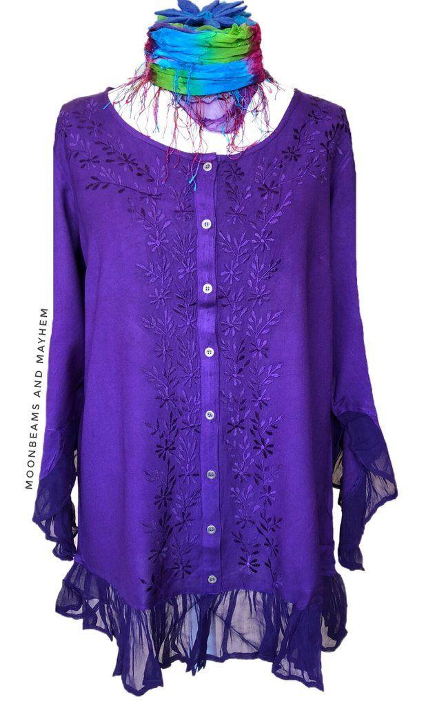 8d3c10e9cf1 Striking purple renaissance blouse   shirt plus size 18 - 32 ...
