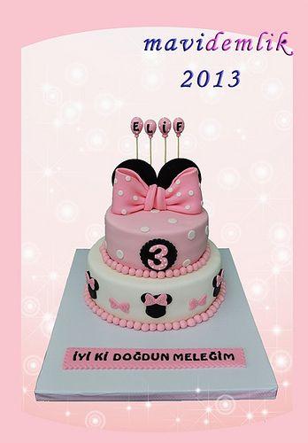 mavi demlik mutfağı- izmir butik pasta kurabiye cupcake tasarım- şeker hamurlu-kur: ELİF'İN MİNNİE MOUSE PASTA VE KURABİYELERİ