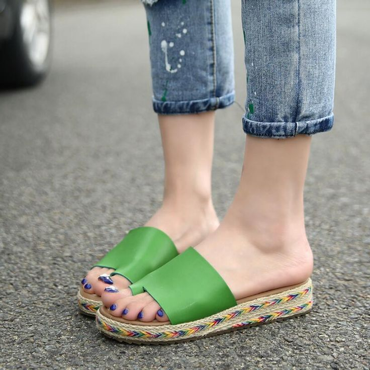 {D&H}Big Size35-43 2016 NEW LOOK Vintage Women Flats Sandals Loafers Slippers Shoes For Women White Black Flip Flops Women Shoes