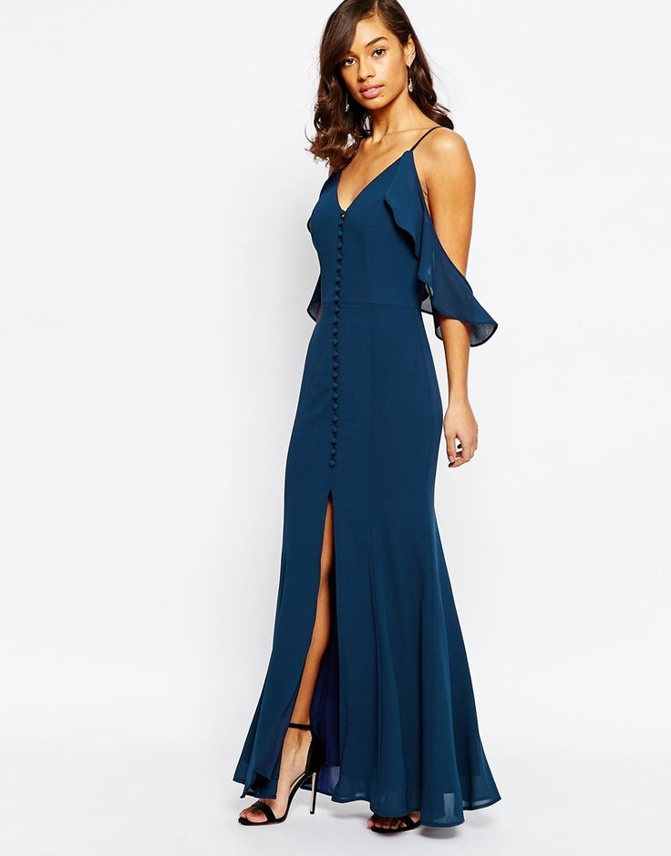 Asos revive cobalt blue maxi dress