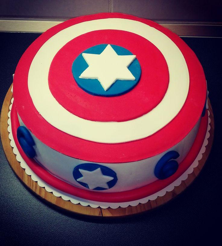cake captain america fondant