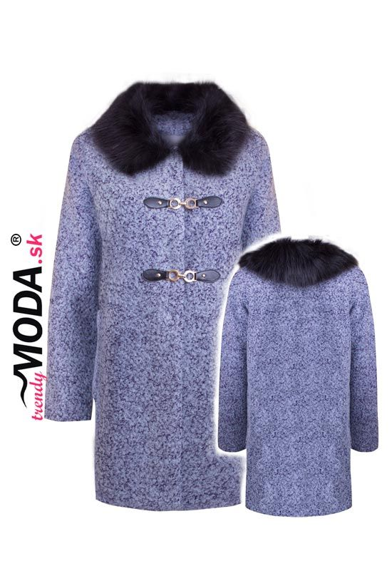 Oversize dámsky zimný kabát - trendymoda.sk