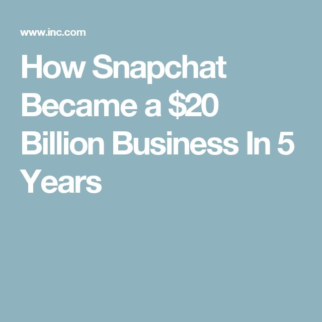 How Snapchat Became a $20 Billion Business In 5 Years