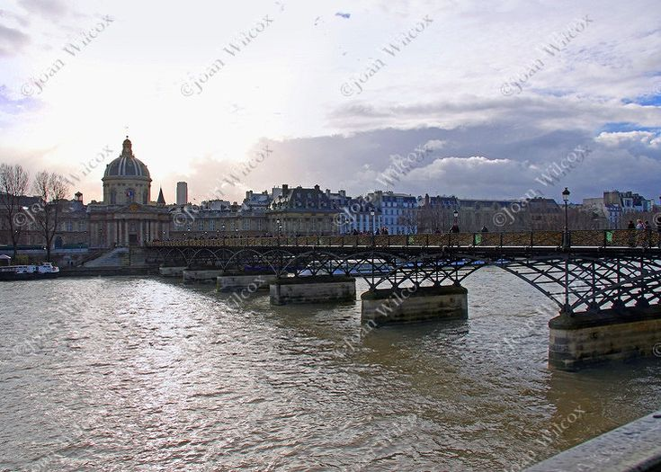 La Passerelle des Arts Padlock Bridge Paris France Original Photo Print - pinned by pin4etsy.com