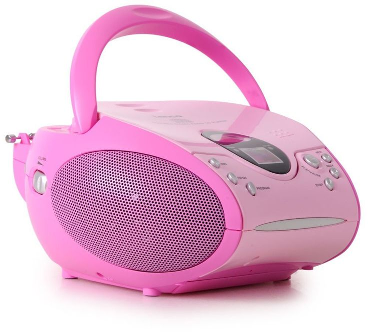 Lenco SCD-24 Portable Radio CD Player - Pink: Amazon.co.uk: Audio & HiFi