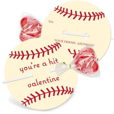 Baseball Valentine... Cute idea for the boys in the class:o)
