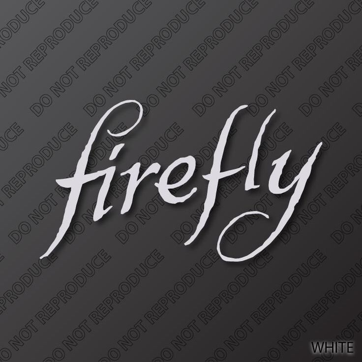 Firefly TV Series Premium Vinyl Decal by PoisonOaksGraphics on Etsy https://www.etsy.com/listing/173814414/firefly-tv-series-premium-vinyl-decal