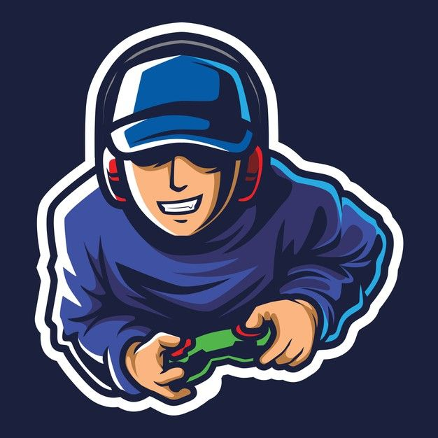 Cool Gamer Esport Logo Illustration In 2021 Logo Illustration Game Logo Design Logo Design Art