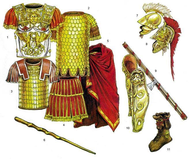 Костюмы вооружение римские военачальники солдаты изображения