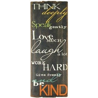 Think Deeply Speak Gently Wood Wall Decor