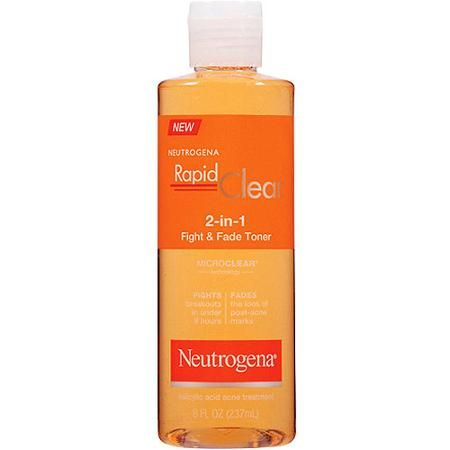 Neutrogena Rapid Clear 2-in-1 Fight & Fade Toner, 8 fl oz - Walmart.com