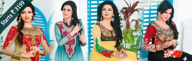 #Festival #Special Suits.....  Get Up To 50% #Off on Bollywood Diva Bhagyashree Patwardhan  Designer Suit Visit http://www.shoppers99.com/all_sales/designer_floral_anarkali_salwar_suits_collection