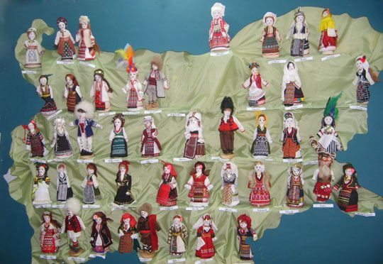 Traditional bulgarian dolls