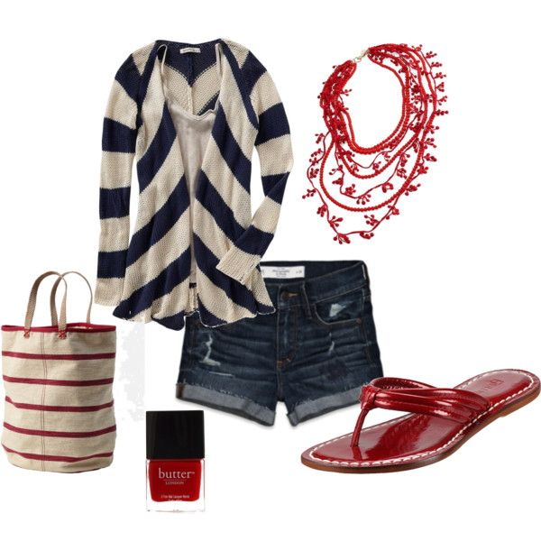 stripey red, created by jewhite76 on Polyvore