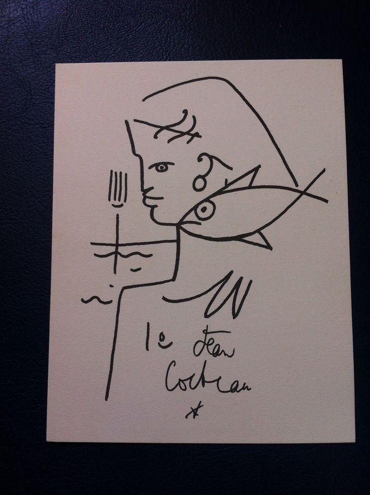 Carte Galerie Artiste Jean Cocteau 14 X 18 CM Sodia Tarascon 70B10 Dessin SUD   eBay