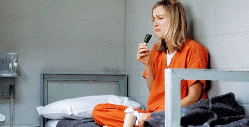 Pin for Later: Piper's Long Road to Becoming Orange Is the New Black's Biggest Badass She's Actually Pretty Bad at It Wouldn't you be sobbing too?