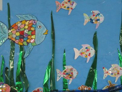 The Rainbow Fish Display, classroom display, class display, Story, fish, water, colour,rainbow, read, book, Early Years (EYFS), KS1 & KS2 Primary Resources