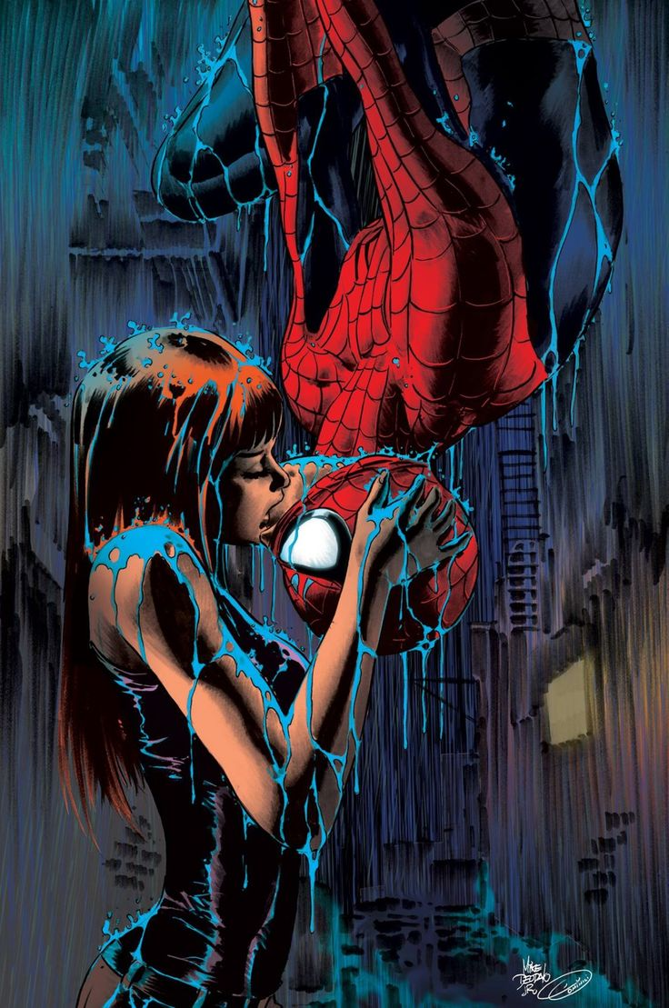 Mary Jane and Spidey - Mike Deodato Jr., Colors - Du Dominici
