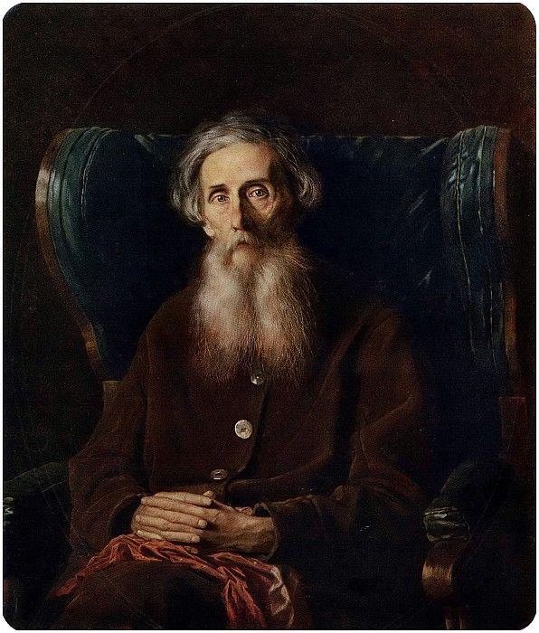 Портрет писателя Владимира Ивановича Даля. 1872 Х. , м. 94х80, 5 ГТГ. Василий Григорьевич Перов