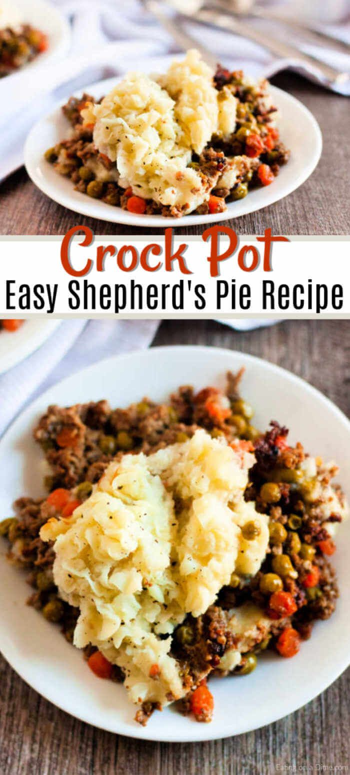 Crock Pot Shepherd S Pie Recipe The Best Comfort Food Recipe Crockpot Recipes Slow Cooker Crockpot Recipes Easy Crockpot Dinner