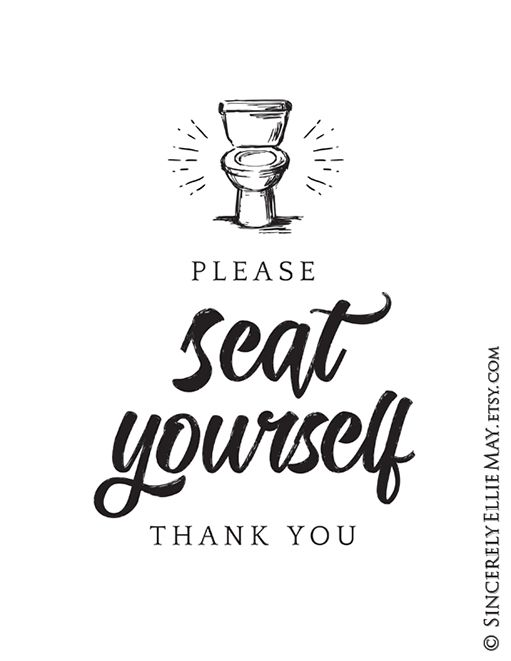 Please Seat Yourself Thank You